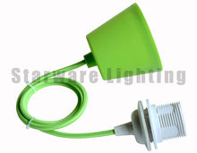 Plastic canopy with braided wire lamp socket for classic pendant lights