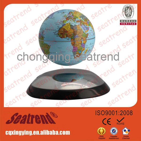 フローティング世界地図,地球反重力グローブ磁気浮上,磁気浮上地球儀,磁気誘導グローブ