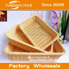 2015 High quality Certification ISO9001-2000 handmad customized size bountiful bread plastic woven basket