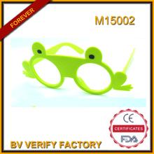 M15002 grenouille forme cadre néon couleur à la mode dans le monde entier Crazy Party lunettes de soleil