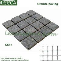 40x40cm dark grey granite patio paver
