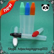 e liquid pen bottle 15ml hot sale 15ml pe plastic tube unicorn bottle pen/unicorn shape perfume bottle