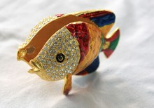 Tropical Colorful Fish Trinket Jewelry Box