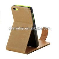 100% Brand New Vintage Leather Flip Case For iPhone 5C