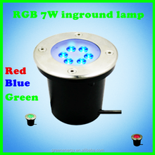 12v ac/dc Red Blue Green three colors RGB 7W led inground lamp three years warranty rgb led lamp