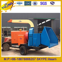 mobile wood chipping shredder machine10-20t/h