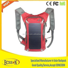 2015 new 10000mAh voltaic solar backpack for camping , solar panel backpack for hiking , solar charger backpack for cycling