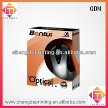 attactive 2013 hot sale computer mouse packaging paper box with window