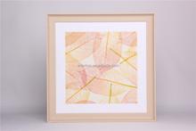 Morden design gold leaf picture U frame painting