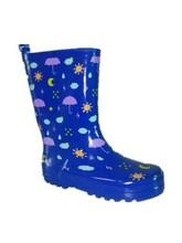 Azul zapato del cabrito para las muchachas, zapatos pintados a mano de secundaria KR-101