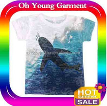 water printed t shirts/double fabric t shirts