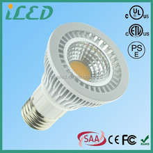 Aluminum Frame Wide Beam Spot Light Bulb 5W 6W par20 etl led cob GU10 E26 E27 Base