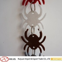 HOT SALE!!!Novelty colorful Felt Halloween spider strings for party decoration