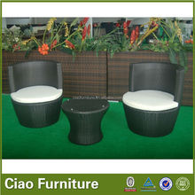Foshan 2015 rattan coffee table and chairs outdoor furniture 100%by hand