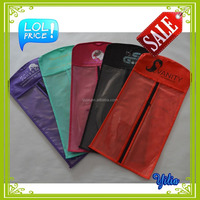 hair packaging bags/standing hair extension pouch with hang hole