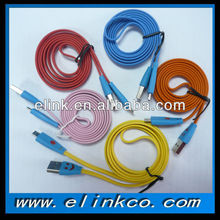novel design colorful usb flat cable AM to Micro