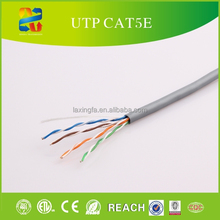 100% Fluke passed 305m gray Lan Cable PVC insulation cable CAT5e UTP Network Cable
