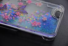 UV Printing Peony Flower 3D Liquid Glitter Quicksand Phone Case For Samsung& iPhone