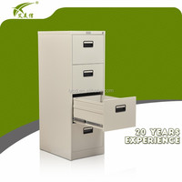 4 drawer office storage cabinet steel drawer filing cabinet
