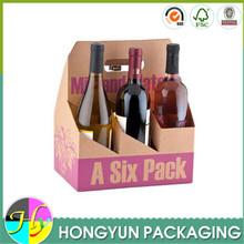 new design cardboard 6 pack bottle beer carrier