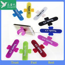 touch-u stand One touch wing design silicone rubber cell phone stand/silicone cell phone stand/smart phone stand