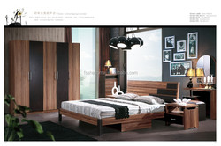High quality classic wood veneer bedroom furniture