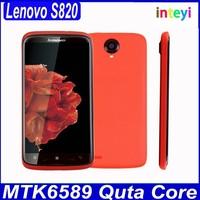 Original Lenovo S820 Cellphone MTK6589 Quad Core 4.7 inch IPS 1280x720 Android Mobile 13.0MP Camera Dual Sim Bluetooth GPS
