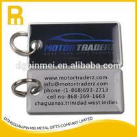 Wholesale irregular size metal key fob with key ring