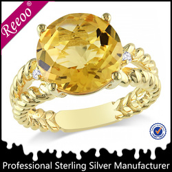 gold plated fantasy jewelry gold diamond rings