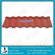 Grey Blue Red Color Coated Classic Steel Roofing Materials Tiles For House roofing shingle/1340mm * 420mm