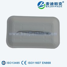 Dental used disposable medical PE coated paper plate of BAJAY PACK