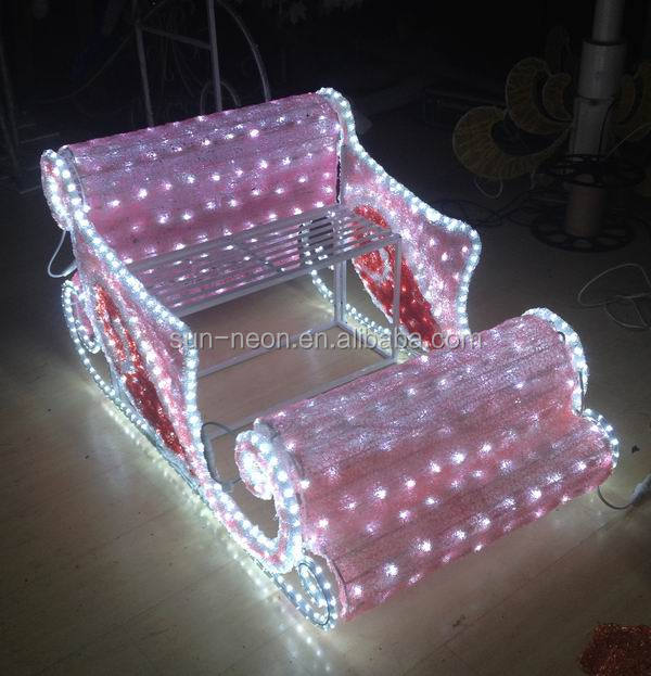 christmas sleigh indoor decoration lighted outdoor sleigh. Black Bedroom Furniture Sets. Home Design Ideas