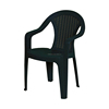 Monoblock plastic garden chair with assorted colours
