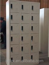 Knock down steel locker furniture with 18 small door
