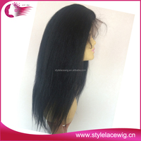 Fast Shipping Natural Color kinky curly full lace wig for black women