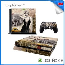 Free china mobile decal skin sticker pvc for playstation 4