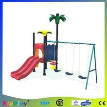 outdoor swing and slide set
