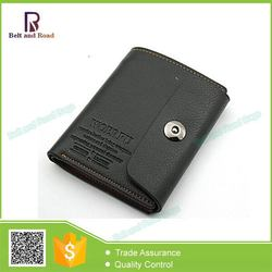 Zhejiang manufactory Crazy Selling yellow leather smart wallets for men