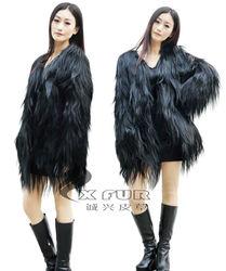 CX-G-A-24 2015 New Style Wholesale Genuine Goat Fur Garments