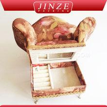 Tecido elegante forma impecável espuma para caixa de jóias