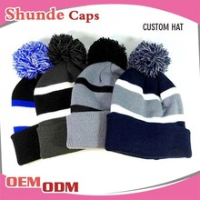 Women's Hat And Man Hat Knit Winter Hats With Bill