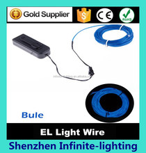 Hot 2015 Super bright electroluminescence el wire, el wire craft/ el wire with different colors
