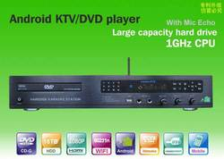 All-in-one Android DVD/KTV/HDD karaoke player with HDMI 1080P ,Select songs via iPhone/Android phone ,build-in AGC/AVC ,songs en