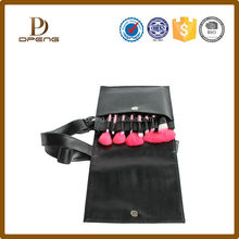 Fashion and durable handle OEM toilet bag leather, roll pu leather cosmetic bag with straps