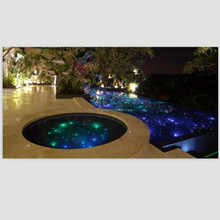 Professional manufacturer produce popular design fiber optic swimming pool lighting, starry effect in the swimming pool
