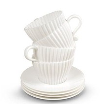 molde de la magdalena tazas de té a conjunto, torta pequeña taza de pastel de té cupssilicone torta del molde de
