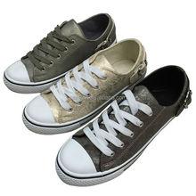 2015 Hot Sale Fashion PU Lady Shoes gold women shoes