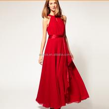HJL-1009 Veri Gude Wholesale 2015 summer European long women chiffon off shoulder evening dress