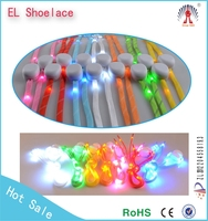 2015 popular birthday giveaways colorful flashing led shoelaces New popular Flashing Led Nylon Shoelaces