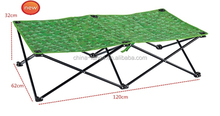 LG-AH1037 Yongkang LanGe steel and Fabric outdoor kids folding bed and folding camping bed